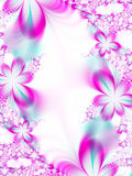 Invitation de mariage de fleur Photo stock