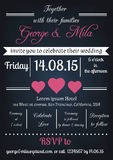 Invitation de mariage de vintage Photo stock