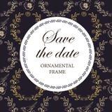Invitation de mariage, merci carder, sauvent les cartes de date illustration stock