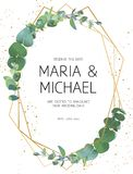 Invitation de mariage de verdure illustration stock