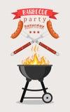 Invitation de partie de BBQ ou de barbecue Photos stock