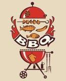 Invitation de partie de barbecue Photo stock