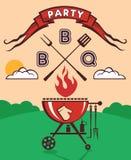 Invitation de partie de barbecue Image stock