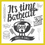 Invitation de partie de barbecue illustration stock