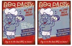 Invitation de partie de BBQ Photos stock