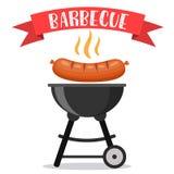 Invitation de partie de BBQ ou de barbecue Photographie stock