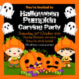 Invitation de partie de Halloween Image stock