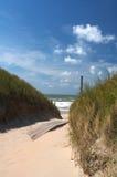 Invitation de plage Photos libres de droits