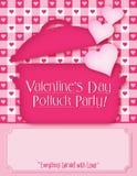 Invitation de Potluck de Saint-Valentin illustration libre de droits