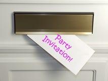 Invitation de réception Photographie stock