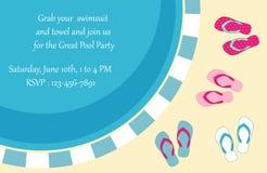Invitation de réception au bord de la piscine Photographie stock