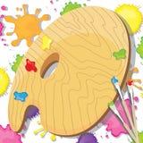 Invitation de réception de peinture d'art Image libre de droits