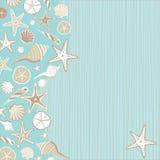 Invitation de réception de plage de Seashell Photographie stock