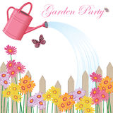 Invitation de réception de jardin Photo libre de droits