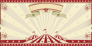 Invitation de rouge de cirque Photos stock