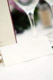 Invitation de table de mariage Photos stock