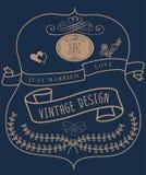 Invitation de vintage de label Image libre de droits