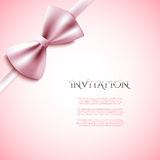 Invitation decorative card with bow Stock Image