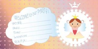 Invitation des enfants s Princesse Birthday Party Invitation illustration libre de droits