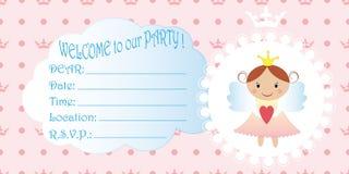 Invitation des enfants s Princesse Birthday Party Invitation illustration stock
