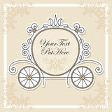 Invitation design with carriage