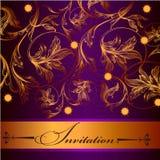 Invitation  design in elegant style Stock Photos