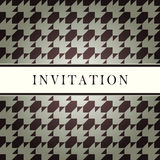 Invitation design pattern card Royalty Free Stock Photos