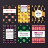 Invitation design vector set. Nature and floral design. Stock Images