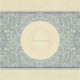 Invitation. Detailed floral vintage invitation card template Royalty Free Stock Photo