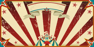 Invitation dirty circus. Circus invitation with sunbeams. A retro invitation card for your circus company stock images