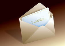 Invitation envelope. Envelope with invitation card inside Royalty Free Stock Images