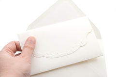 Invitation with envelope Stock Photo