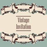 Invitation et ruban Photo stock