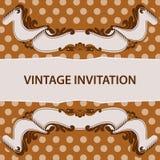 Invitation et ruban Photographie stock