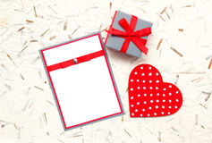 Invitation faite maison Photos stock