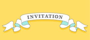 invitation Fita na moda do vintage ilustração do vetor
