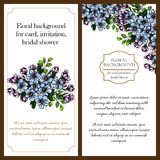 Invitation with floral background Royalty Free Stock Image