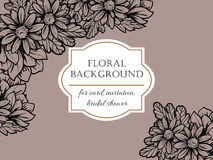 Invitation with floral background Stock Photography
