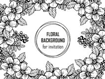Invitation with floral background Royalty Free Stock Photography