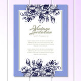 Invitation with floral background Stock Images