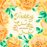 Invitation floral border Royalty Free Stock Images