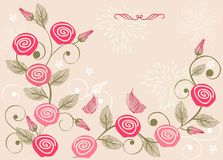 Invitation floral card in vector Stock Images