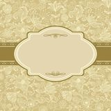 Invitation floral card in vector Royalty Free Stock Images