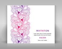 Invitation with floral decoration. Royalty Free Stock Image