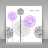 Invitation with floral decoration. Stock Images