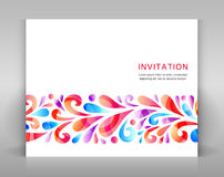 Invitation with floral elements. Royalty Free Stock Photo