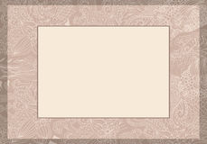 Invitation florale de carte de mariage Photos libres de droits