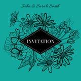 Invitation florale de vecteur Photo stock