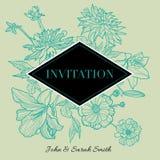 Invitation florale de vecteur Photos libres de droits