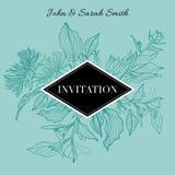 Invitation florale de vecteur Images stock